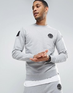 Свитшот с нашивками Only & Sons - Серый