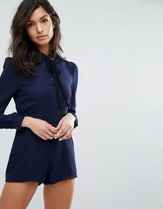 Ромпер с завязкой у горловины Fashion Union - Темно-синий