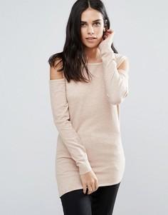 Джемпер с открытыми плечами Fashion Union - Stone