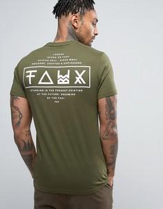 Футболка с принтом на спине Friend or Faux Limitless - Зеленый