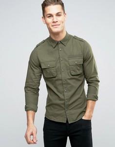 Рубашка-карго классического кроя Blend - Зеленый