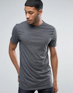 Серая длинная футболка New Look - Серый