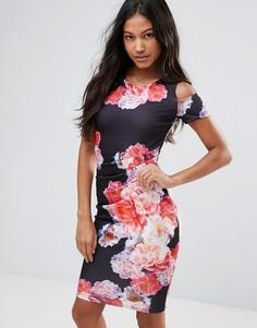 Платье-футляр с броским цветочным принтом Jessica Wright - Мульти