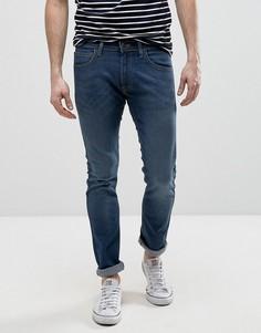 Облегающие джинсы с потертостями Lee Luke - Синий