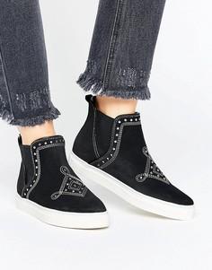 Высокие кроссовки с заклепками Vero Moda - Черный