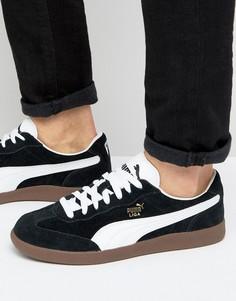 Черные замшевые кроссовки Puma Liga 34146601 - Черный