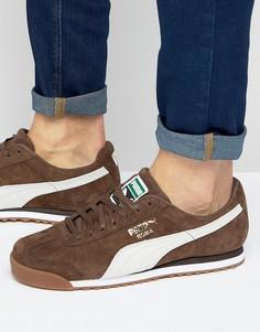 Коричневые кроссовки Puma Roma 36354407 - Коричневый