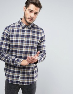 Фланелевая рубашка классического кроя в клетку Jack Wills Salcombe - Синий