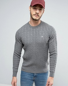Серый меланжевый джемпер крупной вязки Jack Wills Marlow - Серый