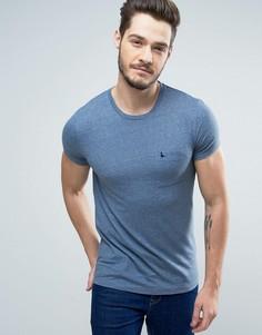 Голубая узкая футболка с логотипом на кармане Jack Wills Ayleford - Синий