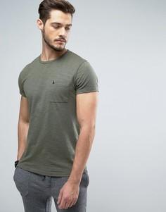 Узкая футболка цвета хаки с логотипом на кармане Jack Wills Ayleford - Зеленый