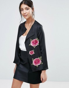 Куртка с цветочной вышивкой Jessica Wright - Черный