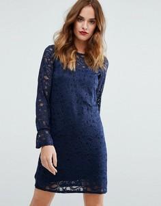Свободное кружевное платье Lipsy - Темно-синий