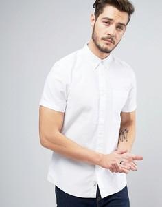 Оксфордская рубашка классического кроя с короткими рукавами Jack Wills Stableton - Белый