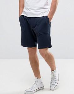 Трикотажные шорты с накладными карманами Jack Wills Allensmore - Темно-синий
