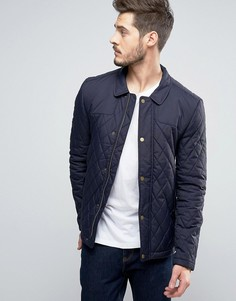Темно-синяя стеганая куртка Jack Wills Speyview - Темно-синий