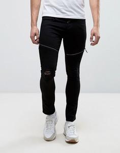 Черные супероблегающие эластичные джинсы Loyalty and Faith Arundel - Черный