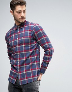 Рубашка классического кроя в клетку Jack Wills Salcombe - Темно-синий