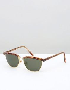 Солнцезащитные очки в черепаховой оправе Reclaimed Vintage - Коричневый