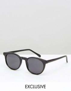 Черные солнцезащитные очки Reclaimed Vintage - Золотой