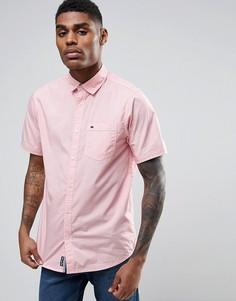 Хлопковая рубашка с короткими рукавами Tokyo Laundry - Розовый