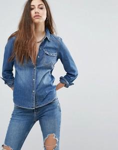 Джинсовая рубашка Noisy May Cathy - Синий