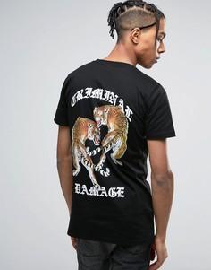 Черная футболка с принтом тигра на спине Criminal Damage - Черный
