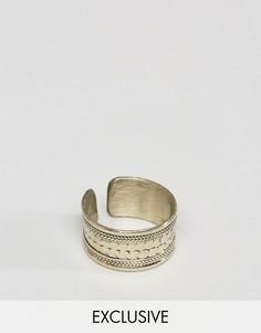 Золотистое кольцо с гравировкой Reclaimed Vintage Inspired - Золотой