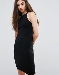 Облегающее платье с молнией Noisy May Lizzy - Черный