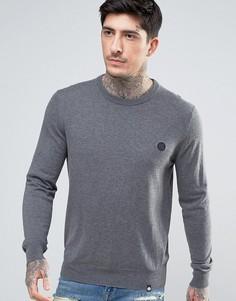 Серый джемпер узкого кроя с маленьким логотипом Pretty Green - Серый