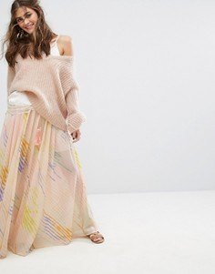 Юбка макси Free People True To You - Белый