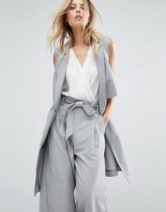 Серый пиджак без рукавов Boss Orange - Серый