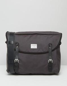 Серая сумка через плечо из кордюры Sandqvist Erik - Серый