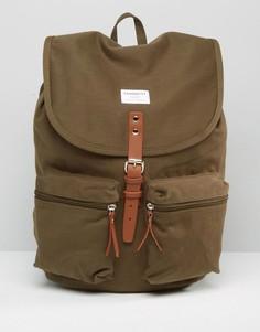 Рюкзак оливкового цвета Sandqvist Roald - Зеленый