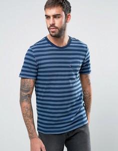 Футболка цвета темного индиго в полоску с короткими рукавами и карманом Levis Sunset Set - Темно-синий Levis®