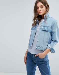 Джинсовая куртка с рюшами Vero Moda - Синий