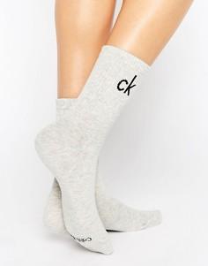 Серые хлопковые носки с логотипом Calvin Klein Modern - Серый