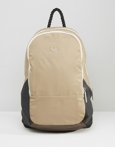 Хлопковый рюкзак с кожаной отделкой Stighlorgan Dara - Бежевый