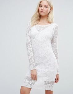 Облегающее платье с длинными рукавами Vila - Белый