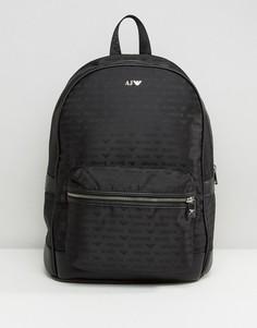 Черный рюкзак с логотипом Armani Jeans - Черный