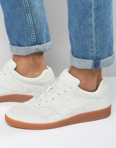 Белые замшевые кроссовки New Balance Soccer CT288WG - Белый