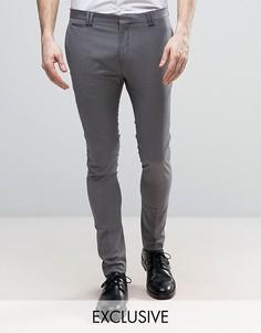 Укороченные суперузкие брюки Noak - Серый