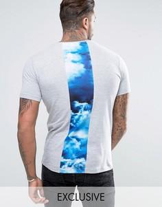 Серая футболка с принтом Hype - Серый