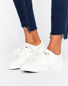 Кеды из искусственной кожи на шнуровке New Look - Белый