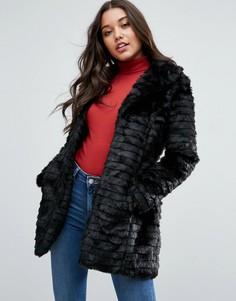 Куртка из искусственного меха Brave Soul - Черный