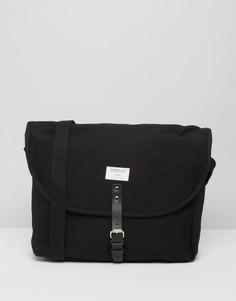 Черная сумка через плечо Sandqvist Jack - Черный