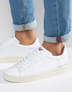 Белые кроссовки с эластичными ремешками Armani Jeans - Белый