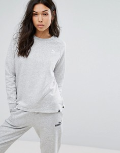Серый свитшот с логотипом Puma - Серый