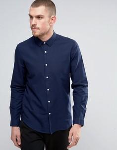 Темно-синяя оксфордская рубашка классического кроя ASOS - Темно-синий