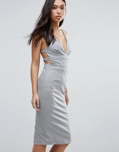 Облегающее платье с ремешками на спине Talulah Walk On By - Серый